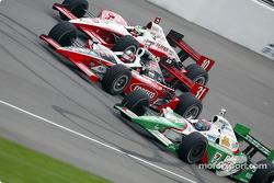 Tomas Scheckter, Al Unser Jr. and Tony Kanaan