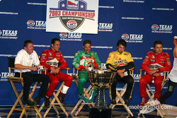 Press conference with IRL title contenders: Scott Dixon, Helio Castroneves, Tony Kanaan, Sam Hornish Jr. and Gil de Ferran