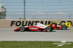 Tomas Scheckter,#10 Target Chip Ganassi Racing car and Scott Sharp, #8