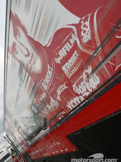 Target Chip Ganassi Racing transporter