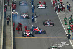 The grid leaves for pace laps