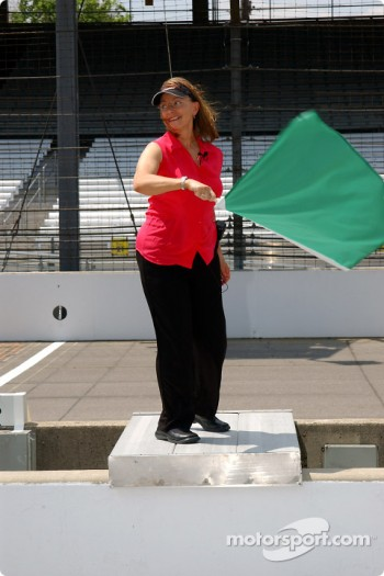 Reba Fisher, mother of Sarah Fisher, at Indianapolis Motor Speedway during Opening Day of the 88th Indianapolis 500-Mile Race