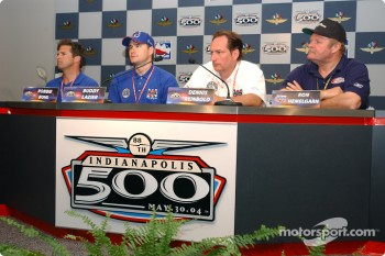 Press conference: Robbie Buhl, Buddy Lazier, Dennis Reinbold and Ron Hemelgarn