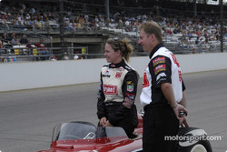 Vintage racers: Sarah Fisher, this year's Bryant driver, tries the 1958 Special