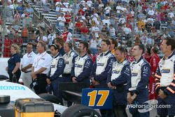 Vitor Meira's crew wait for the National Anthem
