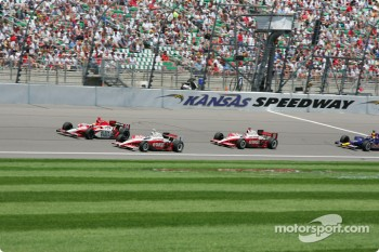 Dan Wheldon, Scott Dixon and Darren Manning