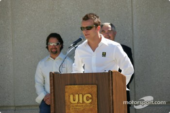 Drink Smart event at The University of Illinois in Chicago: Dan Wheldon and Michael Andretti