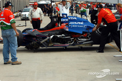 Wrecked car of Dario Franchitti