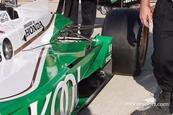 Team KOOL Green car, rear suspension