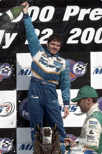 Patrick Carpentier on the podium