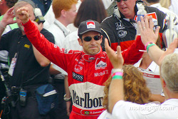 Race winner Helio Castroneves
