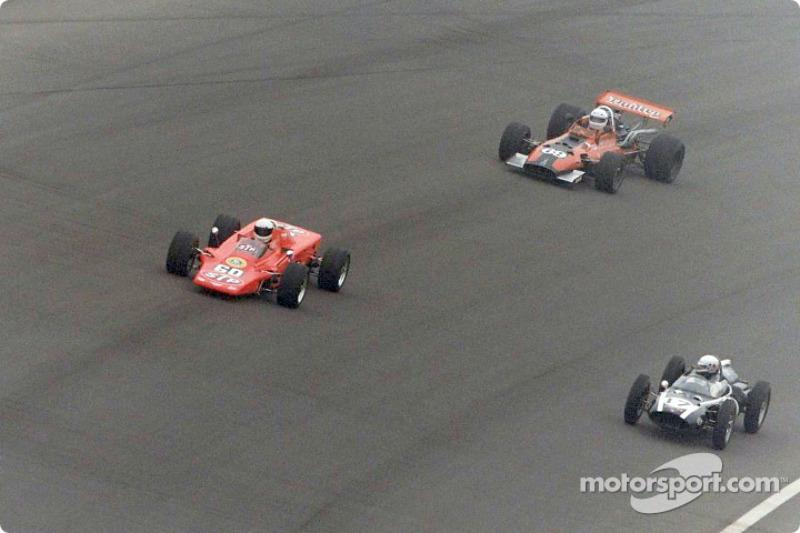 Vintage race: Lotus 56B, Cooper-Climax and Gerhardt