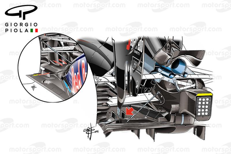 McLaren MP4-31 vs. Red Bull RB8: Diffusor, Vergleich