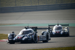 #2 Porsche Team Porsche 919 Hybrid: Romain Dumas, Neel Jani, Marc Lieb and #1 Porsche Team Porsche 919 Hybrid: Timo Bernhard, Mark Webber, Brendon Hartley