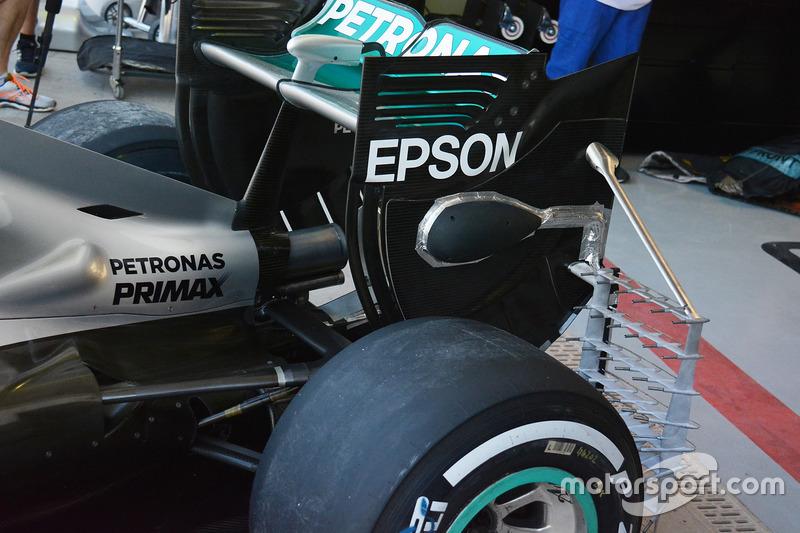 Mercedes AMG F1 W07 Hybrid: Heckbereich