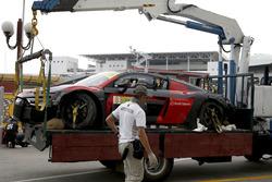 Das Unfallauto von Laurens Vanthoor, Audi Sport Team WRT, Audi R8 LMS