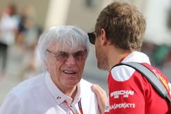 Bernie Ecclestone, with Sebastian Vettel, Ferrari