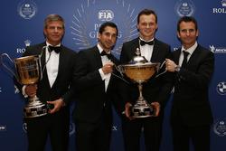 Porsche Team WEC champions Neel Jani, Marc Lieb, Romain Dumas and Fritz Enzinger, Vice President LMP1, Porsche Team