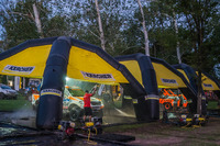 达喀尔 图片 - Karcher cleaning station at the bivouac