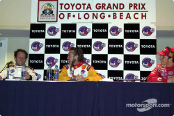 Press conference: Cristiano da Matta, Jimmy Vasser and Bruno Junqueira