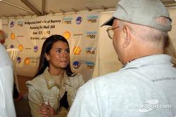 Danica Patrick and Motorsport.com's Jack Durbin