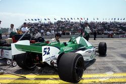 Shinji Nakano's car sits on grid