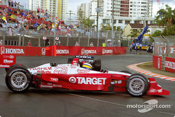 Morning warmup: Dario Franchitti and Kenny Brack spin