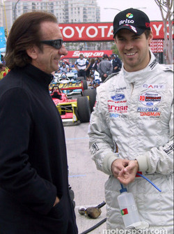 Emerson Fittipaldi and Tiago Monteiro