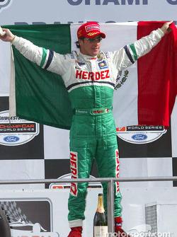 The podium: Mario Dominguez