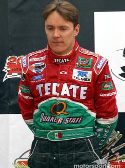 Podium: race winner Adrian Fernandez