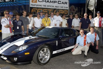 CART drivers pose with the new Ford GT40
