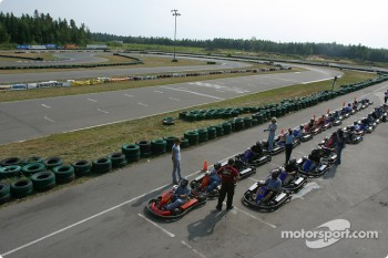 Rocketsports-Tagliani karting event: grid for the Rocketsports team race