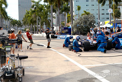 TV crew for the CBS crime-solving drama CSI: Miami shoots a race scene
