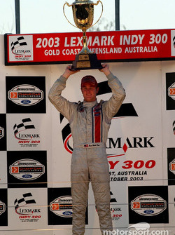 Podium: race winner Ryan Hunter-Reay