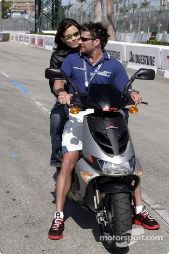Alex and Bronte Tagliani on Aprilia Scooter
