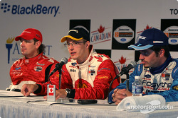 Press conference: race winner Sébastien Bourdais with Jimmy Vasser and Patrick Carpentier