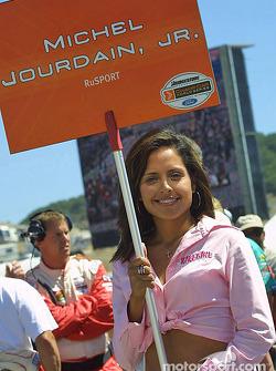 Michel Jourdain Jr.'s grid girl