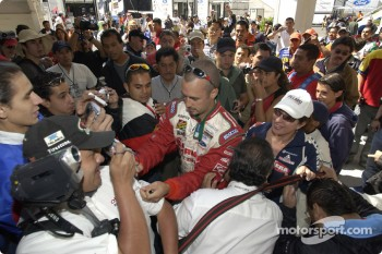 Michel Jourdain Jr. meets his fans