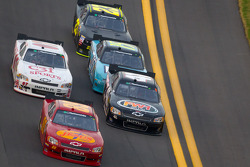 Morgan Shepherd, Shepherd Chevrolet leads a group of cars