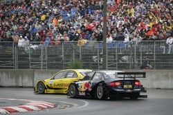 David Coulthard, Mucke Motorsport, AMG Mercedes C-Klasse and Miguel Molina, Audi Sport Team Abt Junior Audi A4 DTM
