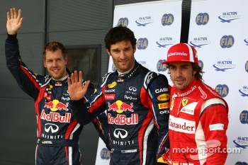 Polesitter Mark Webber, Red Bull Racing, Sebastian Vettel, Red Bull Racing, Fernando Alonso, Scuderia Ferrari