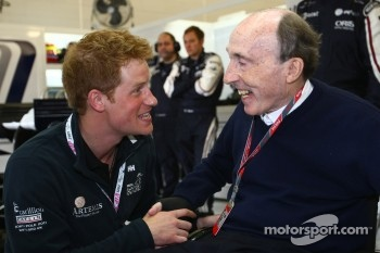 Prince Harry with Sir Frank Williams