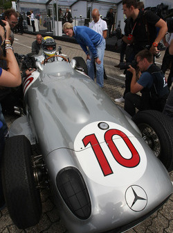 Nico Rosberg, Mercedes GP drives the 1955 Mercedes W196