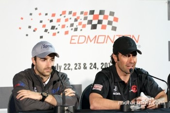 James Hinchcliffe, Newman/Haas Racing and Dario Franchitti, Target Chip Ganassi Racing 