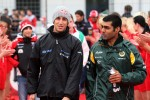 Daniel Ricciardo HRT Formula One Team, Karun Chandhok, test driver, Lotus F1 Team