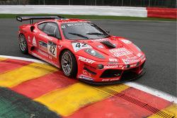 #42 Sport Garage Ferrari 430 Scuderia: Romain Brandela, Eric Cayrolle, Christophe Jouet, Michaël Petit