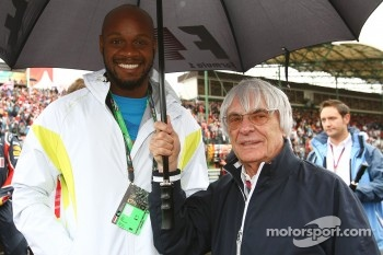 Asafa Powell 100 meter runner with Bernie Ecclestone