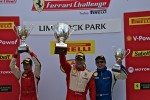 Victory lane: 458 class and overal race winner Enzo Potolicchio, second place Mark Mckenzie, third place Darren Crystal