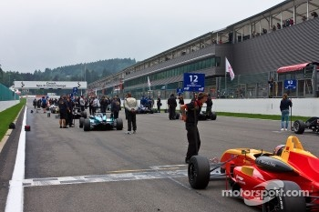 F3 Cars line up on the grid