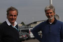 Carlos Sainz and Damon Hill